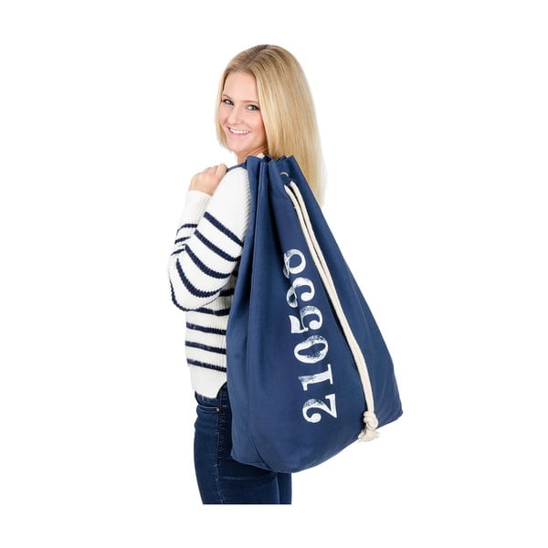 Niebieski wiszący kosz na pranie Wenko Sailor