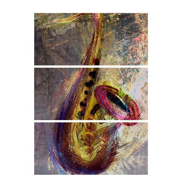 Trzyczęściowy obraz Saksofon