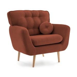 Ciemnoczerwony fotel z poduszką VIVONITA Malva