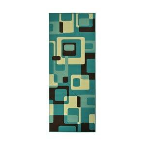 Dywan Hamla Retro, 80x150 cm, niebieski