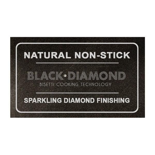 Patelnia do grillowania z zieloną rączką Bisetti Black Diamond, 28x28 cm