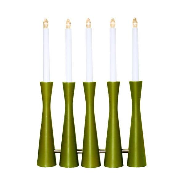 Zielony świecznik LED Midja