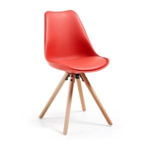 Czerwone krzesło La Forma Lars