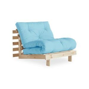 Fotel rozkładany Karup Design Roots Raw/Celeste