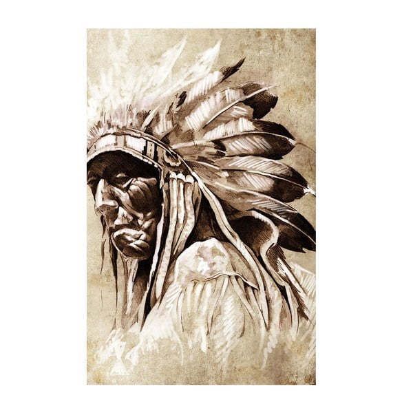 Obraz Stary Indianin, 45x70 cm