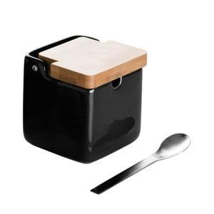 Pojemnik   na cukier z łyżeczką Versa Black Basic