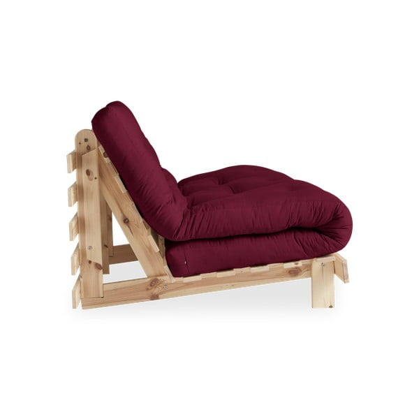 Sofa rozkładana Karup Design Roots Raw/Bordeaux
