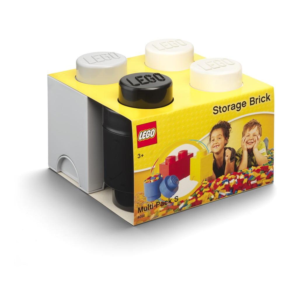 Zestaw 3 plastikowych pudełek LEGO®, 25x25,2x18,1 cm