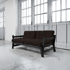 Sofa rozkładana Karup Step Black/Brown