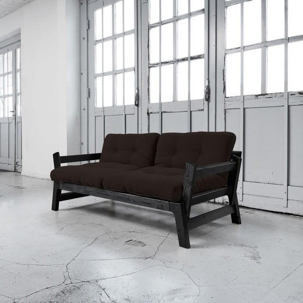 Sofa rozkładana Karup Step Black/Brown