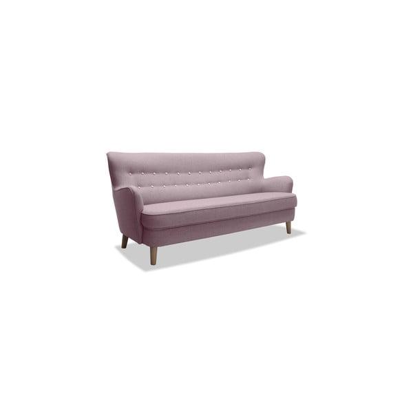 Różowa sofa trzyosobowa VIVONITA Eden
