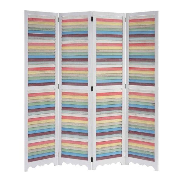 Parawan Patchwork Pastel White, 161x170 cm