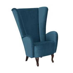 Niebieski fotel Max Winzer Aurora Velvet