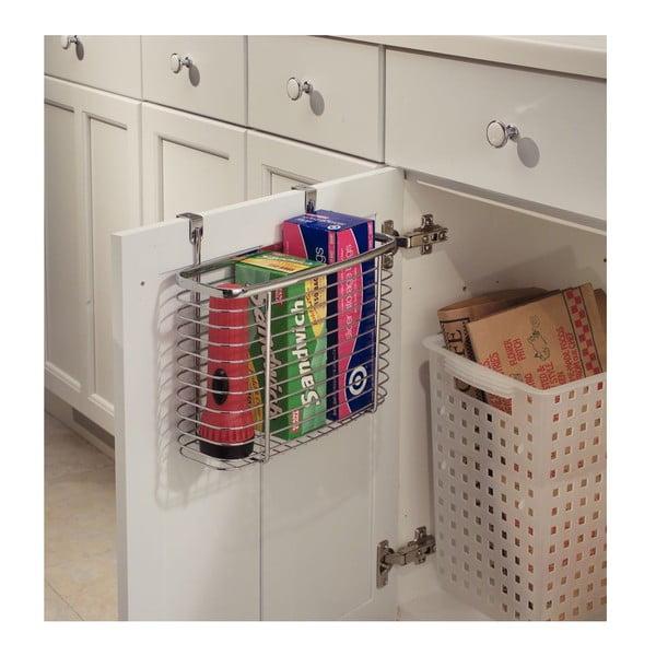 Metalowy koszyk na drzwi szafek kuchennych InterDesign Axis Cabinet