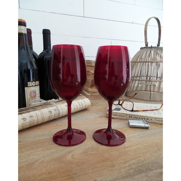 Komplet 6 kieliszków do wina Rosso