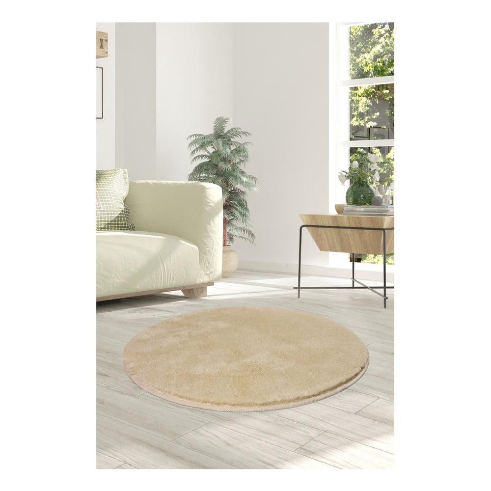 Jasnobeżowy dywan Milano, ⌀ 90 cm