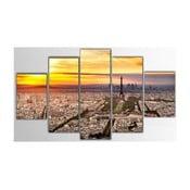 Pięcioczęściowy obraz Paris, 100x60 cm