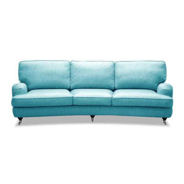Turkusowa sofa 3-osobowa Vivonita William