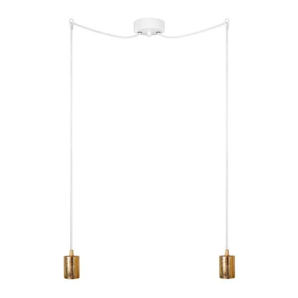Lampa wisząca podwójna Cero, złoty/biały/biały
