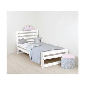 Dziecięce białe drewniane łóżko 1-osobowe Benlemi DeLuxe, 180x80 cm