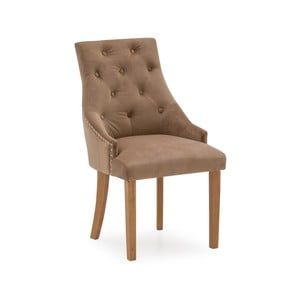 Sada 2 hnědých jídelních židlí VIDA Living Hobbs