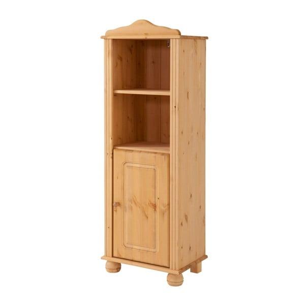 Naturalny otwarty kredens z drzwiczkami z litego drewna 13Casa Adele