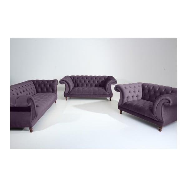 Fioletowa sofa 3-osobowa Max Winzer Ivette