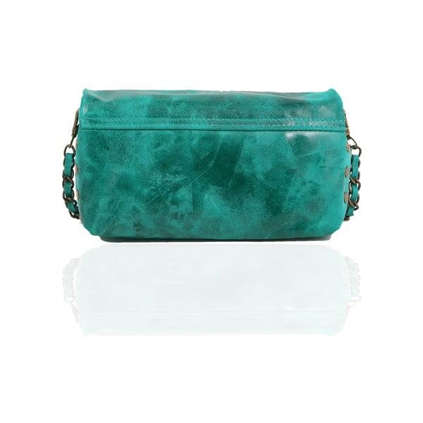 Skórzana torebka Italiana, turquoise