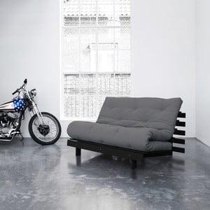 Sofa rozkładana Karup Roots Wenge/Gris