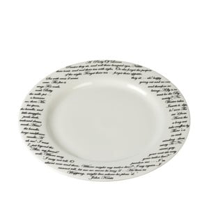 Porcelanowy talerz Keats, 27 cm