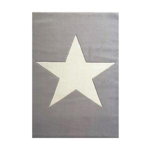 Szary dywan dziecięcy z wełny Happy Rugs Superstar, 120x180 cm