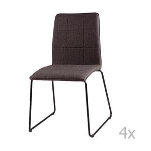 Zestaw 4 ciemnoszarych krzeseł sømcasa Malina