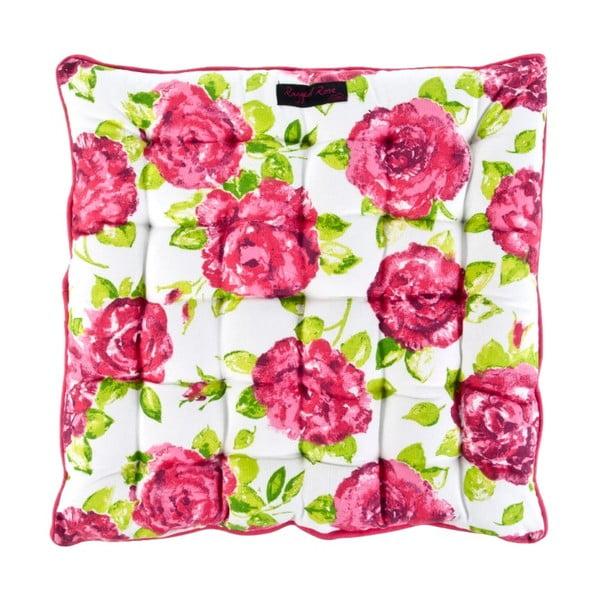 Biała poduszka na krzesło Ragged Rose Paddy Rose