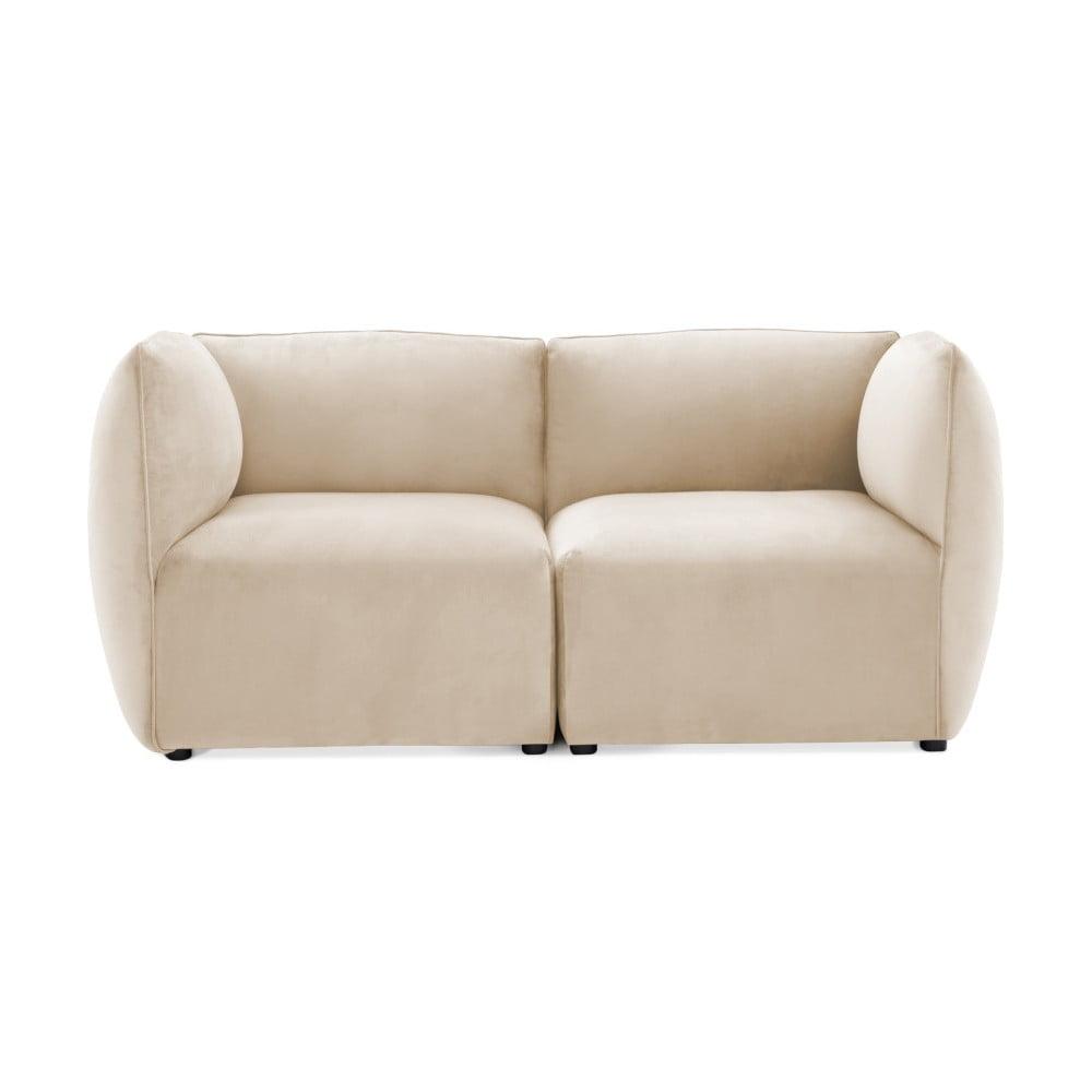 Szarokremowa 2-osobowa sofa modułowa Vivonita Velvet Cube
