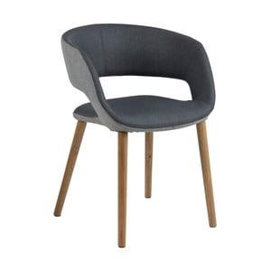 Antracytowe krzesło Actona Greta