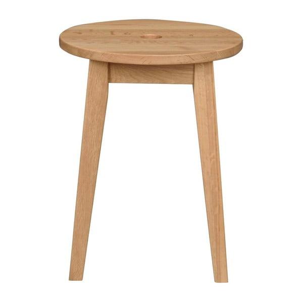 Naturalny stołek dębowy Rowico Gorgona, wysokość 44 cm
