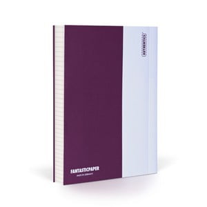 Notes FANTASTICPAPER A6 Aubergine/White, w kratkę