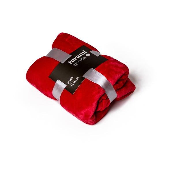 Czerwony koc Tarami, 200x150 cm