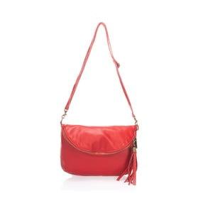 Skórzana kopertówka Riya, czerwona