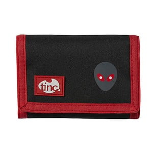 Czarny portfel zapinany na rzep TINC Allien