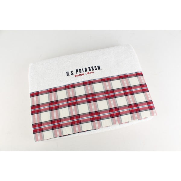 Ręcznik US Polo Bath White Check, 75x150 cm