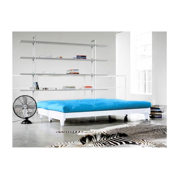 Sofa rozkładana Karup Fresh White/Horizon Blue