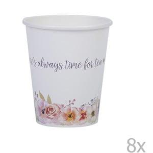 Zestaw 8 kubeczków papierowych Neviti Time for Tea
