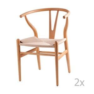 Zestaw 2 krzeseł drewnianych sømcasa Ada