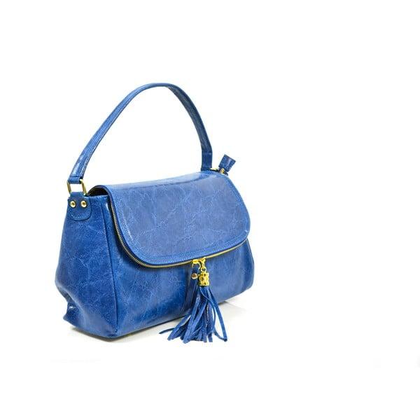 Skórzana torebka Eleonore, niebieska