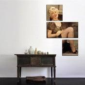 Trzyczęściowy obraz Asymetric Marilyn, 45x90 cm