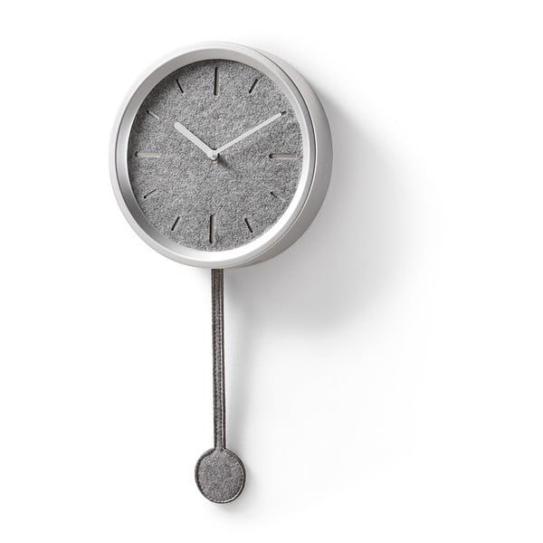 Zegar ścienny w srebrnej barwie La Forma Nexo