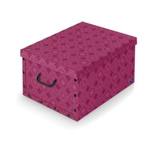 Fioletowe pudełko Domopak Ella, dł.50cm