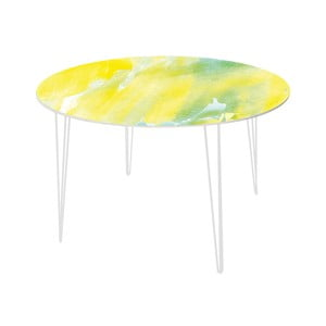 Stół do jadalni Abstract Lemon, 120 cm
