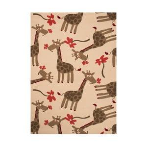 Brązowy dywan dziecięcy Zala Living Giraffe, 140x200 cm
